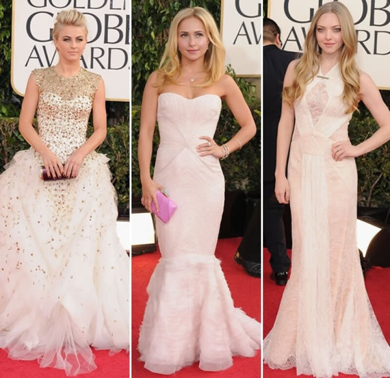 En beige y blanco vimos a varias famosas.