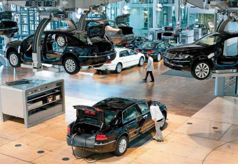 """La Gläserne Manufaktur o la """"fábrica de cristal"""" de Volkswagen, en Dresde. (Foto: Oliver Killig / Expansión)"""