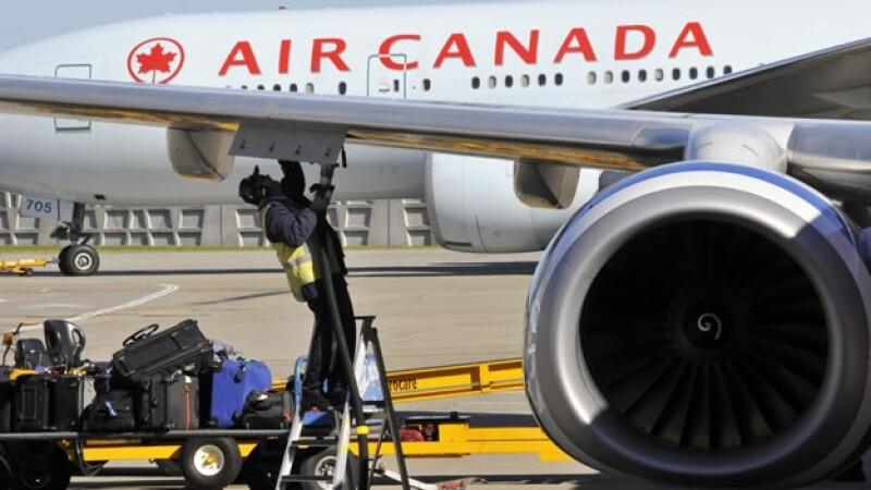 aerolínea air canada avion vuelos