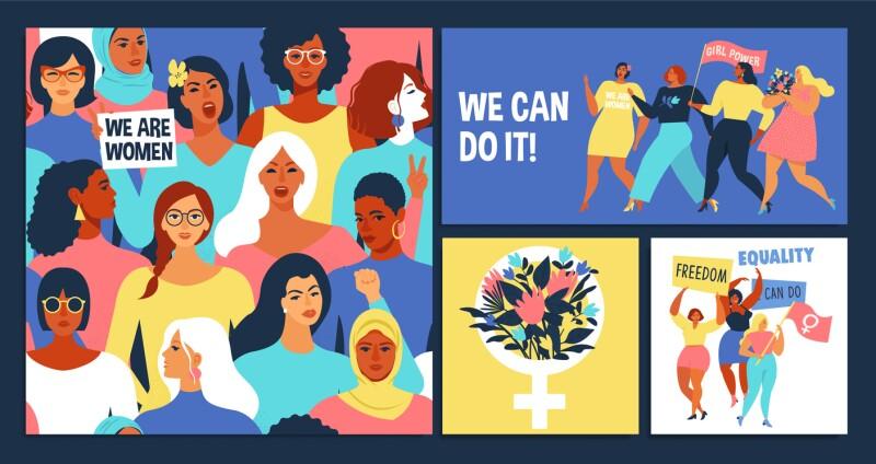 International Women's Day set.