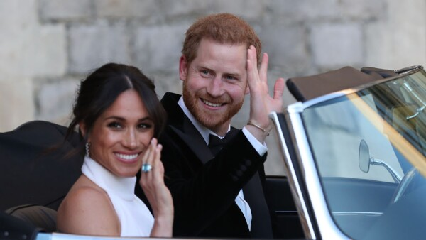 Meghan y Harry dejando Windsor