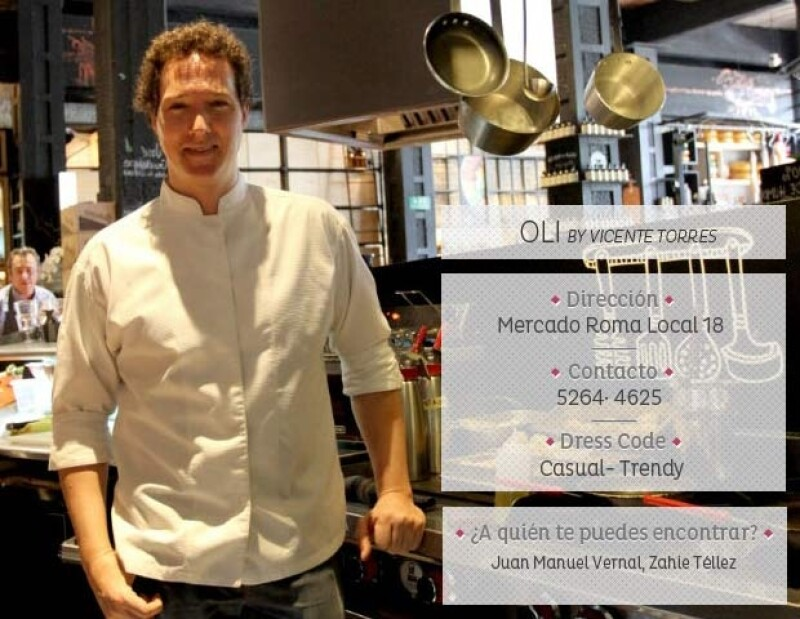 El chef Vicente Torres en el `Oli´.