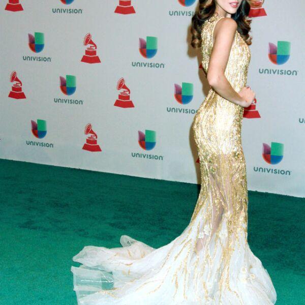 Diva total, Eiza en Las Vegas durante los Latin Grammys 2014.