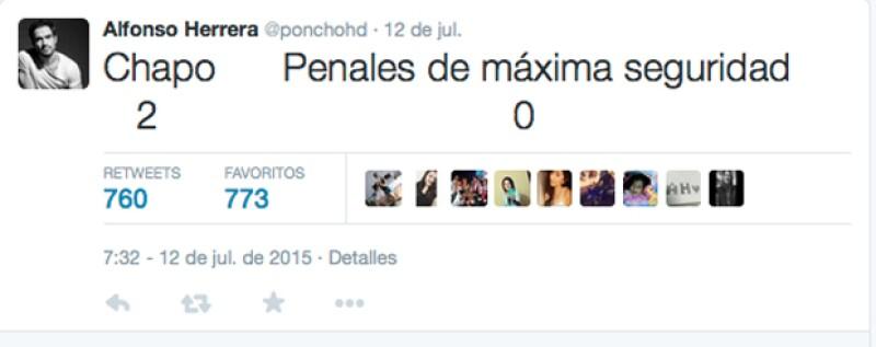 Escueto, pero divertido. Así se expresó el actor Poncho Herrera de la fuga del narcotraficante.