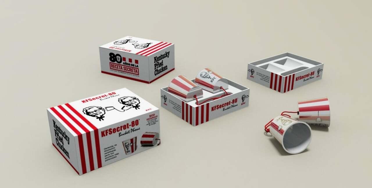 KFC lanza un dispositivo que permite contar secretos con sana distancia