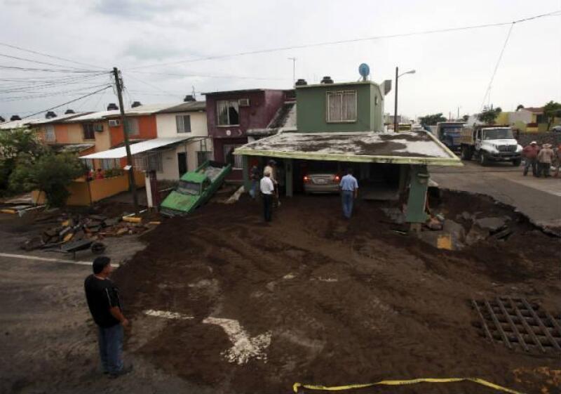 Afectaciones por la tormenta Dolly en Veracruz