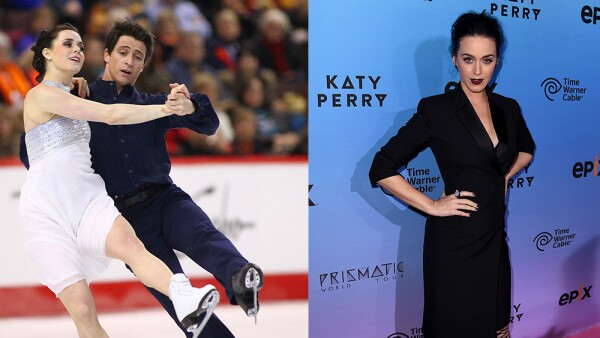 Katy Perry y Tessa Virtue
