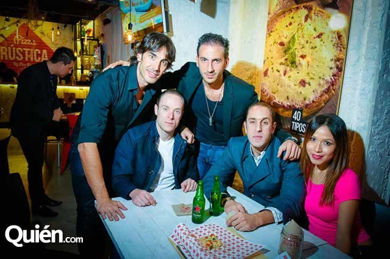 Pedro Prieto,Luis Trabulse,Pepe Trabulse,Johnny Abraham y Liliana Boneti