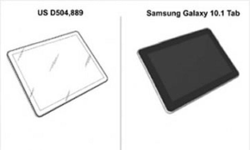 Samsung argumenta que el diseño de la patente presentada por Apple es muy genérica. (Foto: Cortesía Fortune)