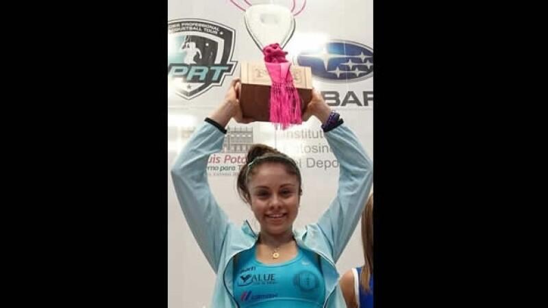 La mexicana Paola Longoria continua con una marca impresionante en el racquetbol y este domingo conquistó un título más en su carrera