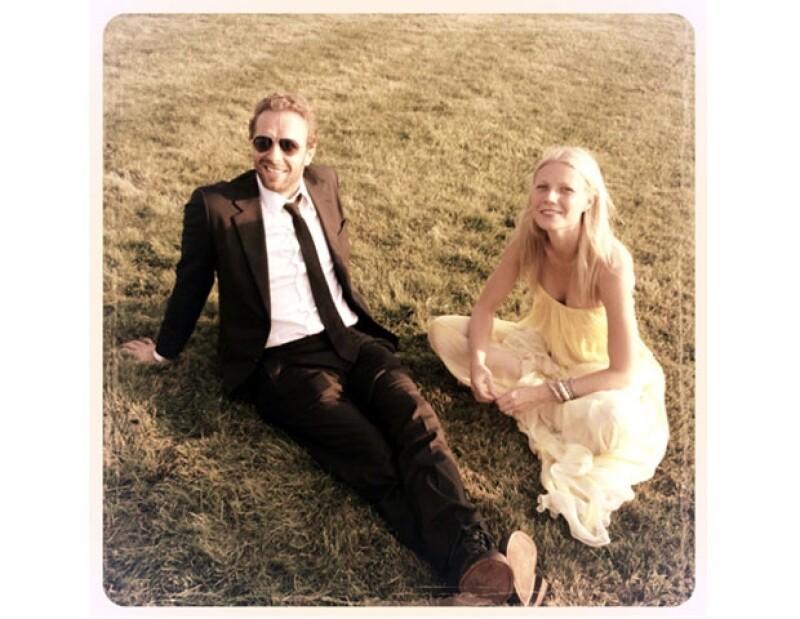 Gwyneth y Chris tienen dos hijos Apple de 9 años y Moses de 7.