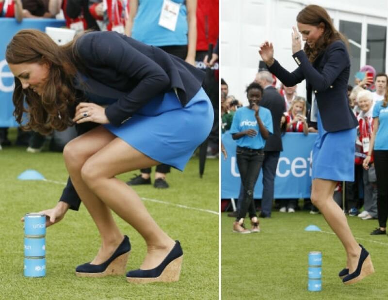Kate Middleton se divirtió en grande, demostrando que es una habilidosa deportista.