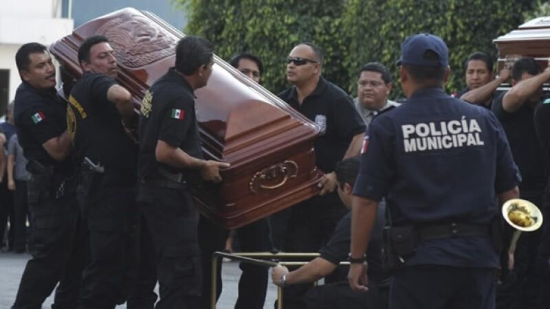 Funeral de policías