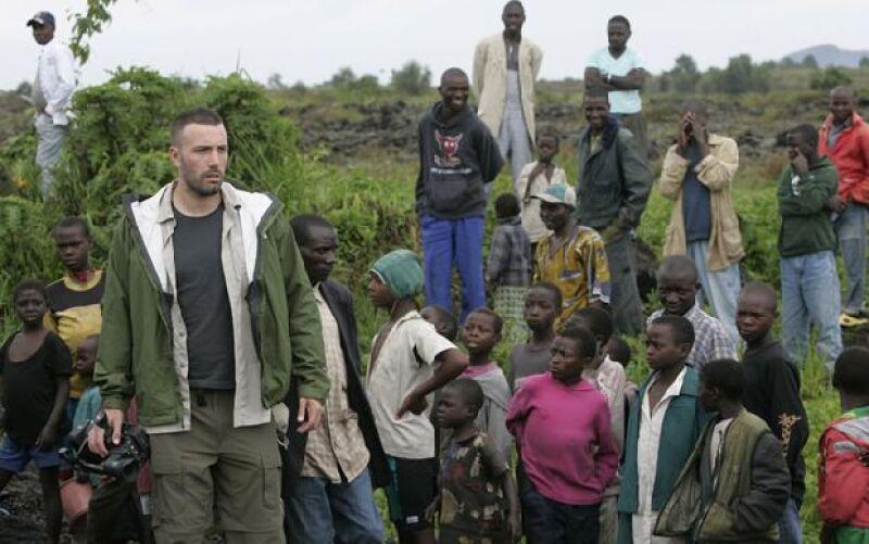 El actor visitó el país centroafricano por cuarta vez desde 2007 y también realizó un documental sobre sus problemas.