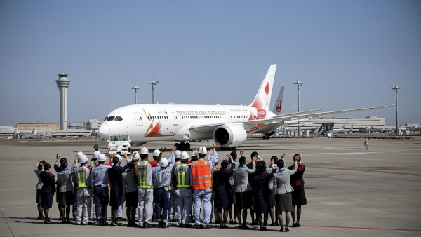 'Tokyo 2020 Go' aircraft leaves Tokyo's Haneda airport for Greece to collect the Olympic Flame, ahead of torch relay