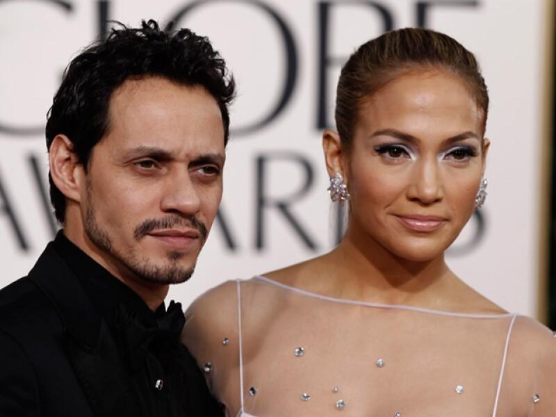 Marc Anthony y Jennifer Lopez.