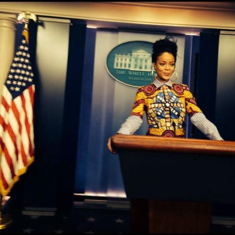"""""""Rihanna para presidente"""", sugirieron algunos fans después de ver esta foto."""