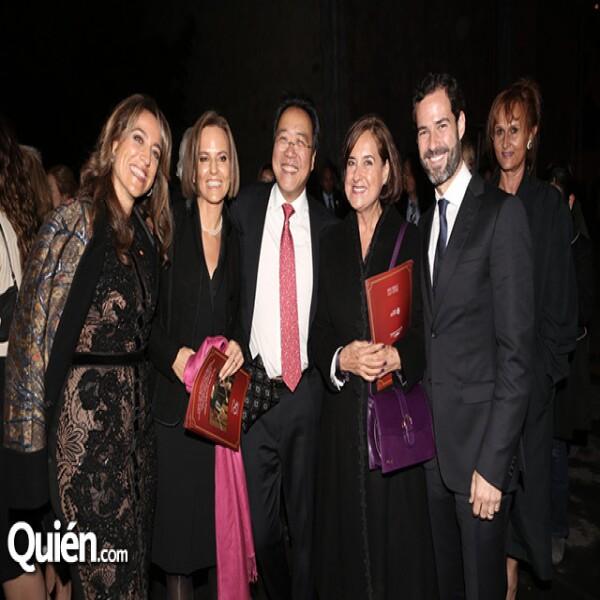 Fabiola de la Madrid,Isabel Prieto,Yo-yo Ma,Cecilia Occelli,Emiliano Salinas
