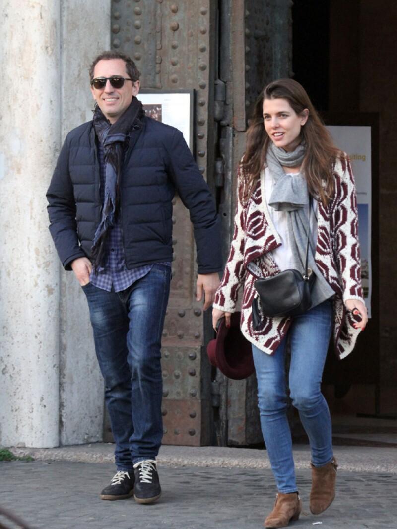 Carlota y Gad de paseo en Roma el año pasado.