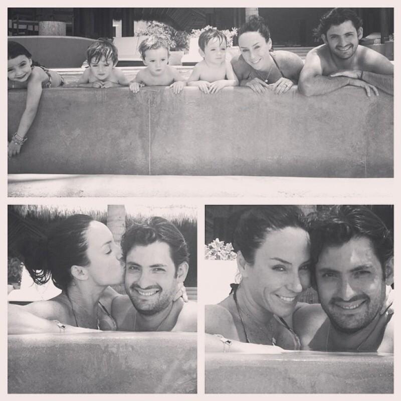 Aunque pocas veces Inés comparte fotos con Manuel pues asegura, `no le gusta que lo haga famoso´, la conductora publicó esta imagen en Instagram hace unos meses.