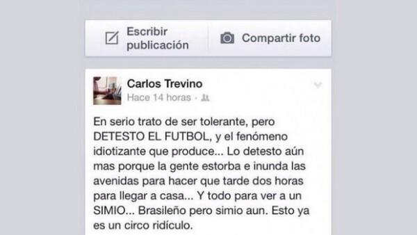 """El ex secretario de Desarrollo Social de Querétaro, Carlos Manuel Treviño Núñez levantó polémica por llamar """"simio"""" al jugador que recientemente se incorporó a las filas del club queretano."""