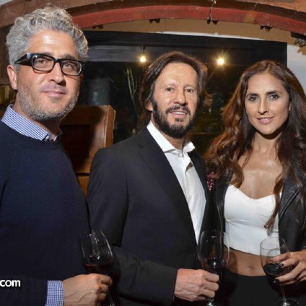 Gabriel López Morton, Rafael Ambrosi y Erika Ramírez