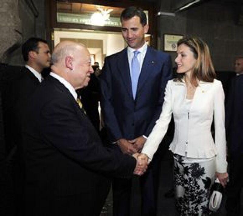 Los príncipes de Asturias estuvieron este martes en la sede del alto tribunal. Por la noche el embajador de España en México, Carmelo Angulo, ofreció una cena en su honor.