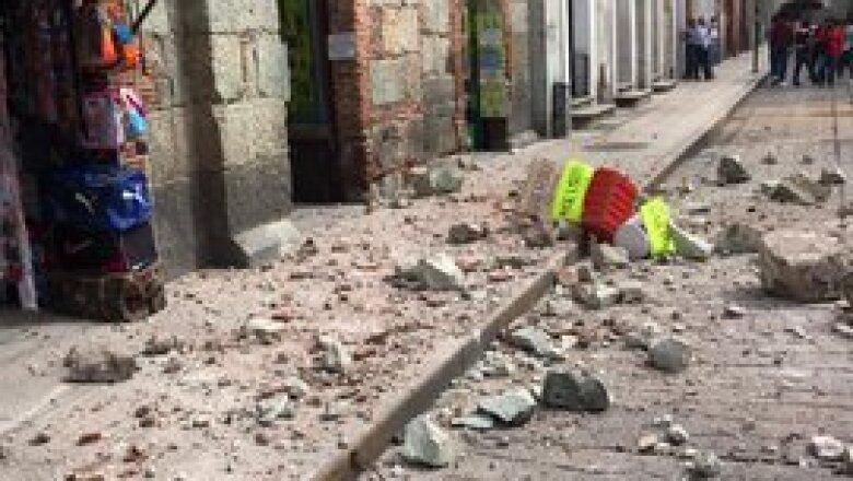 El sismo en Oaxaca