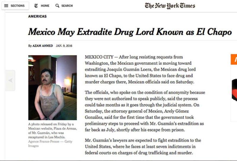 El periódico estadounidense se pregunta sobre la extradición.