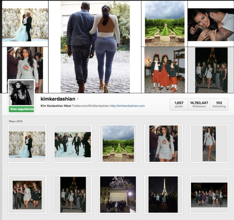Tanto en su cuenta de Instagram como de Twitter el apellido `West´ acompaña ya las publicaciones de la empresaria.
