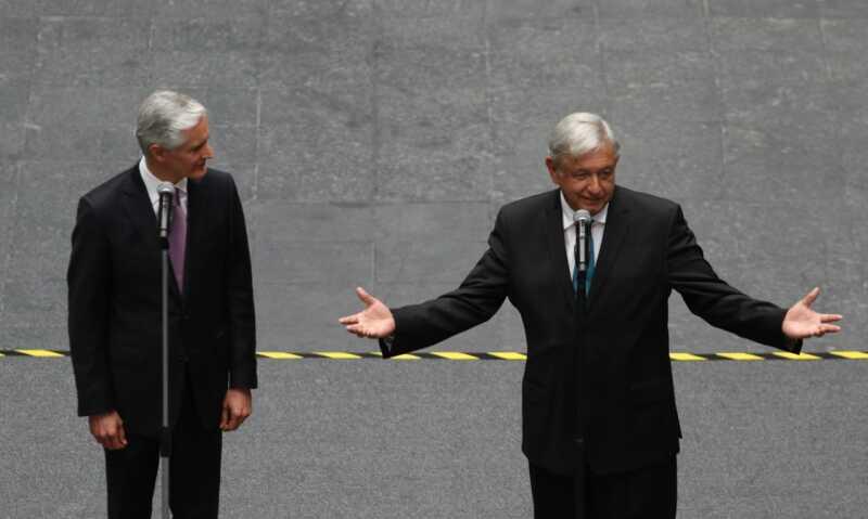 AMLO y Del Mazo
