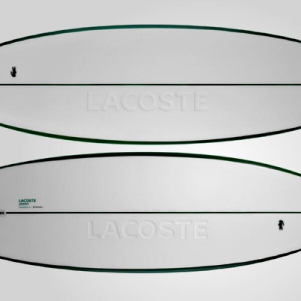 La tabla de surf fue diseñada por JP Stark y creada por NOTOX.