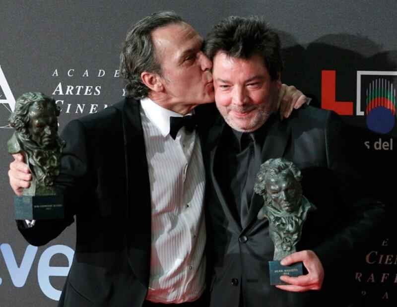 José Coronado (Ganador del premio a Mejor Actor) y Urbizu.
