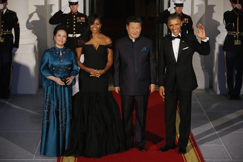 La llegada a la cena para recibir al presidente Xi Jinpling y su esposa Peng Liyuan en la Casa Blanca.