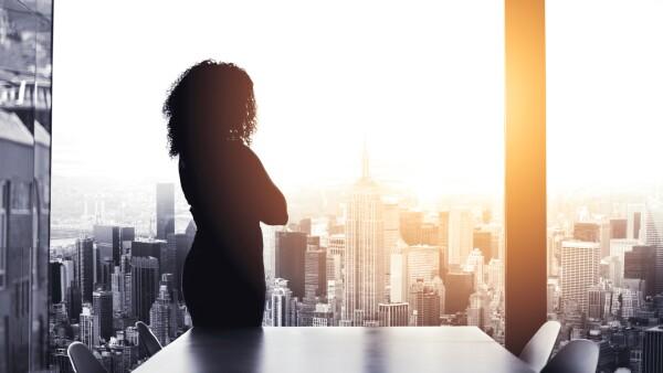 Mujer empresarial líder