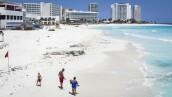 FILE PHOTO: Outbreak of the coronavirus disease (COVID-19), in Cancun, Mexico