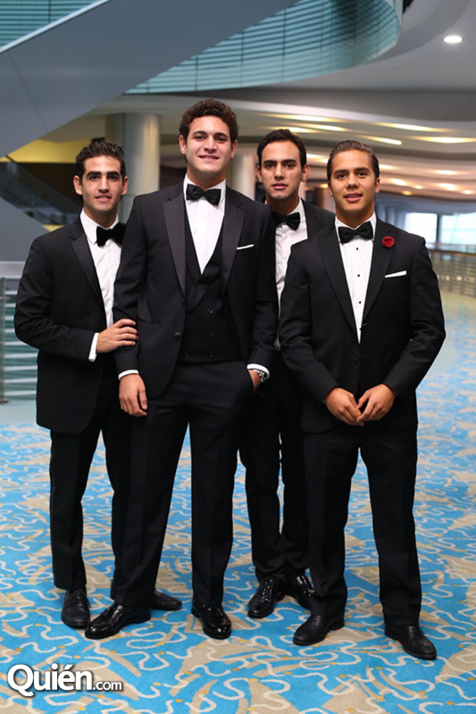 José María Gallego, José Sesín, Patricio Uribe, Sebastian Rodríguez y José Antonio Ruíz