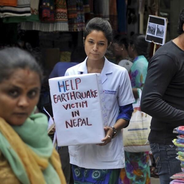 Estudiante donaciones India