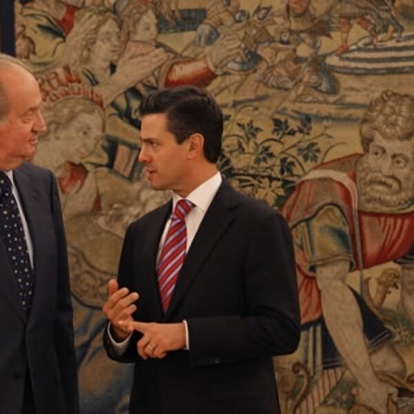 enrique Peña Nieto y el Rey Juan Carlos de España