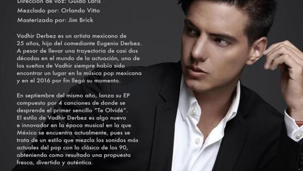 El hijo de Eugenio Derbez no podría estar más feliz pues inicia una nueva etapa en su vida como cantante. ¿Ya lo escuchaste?