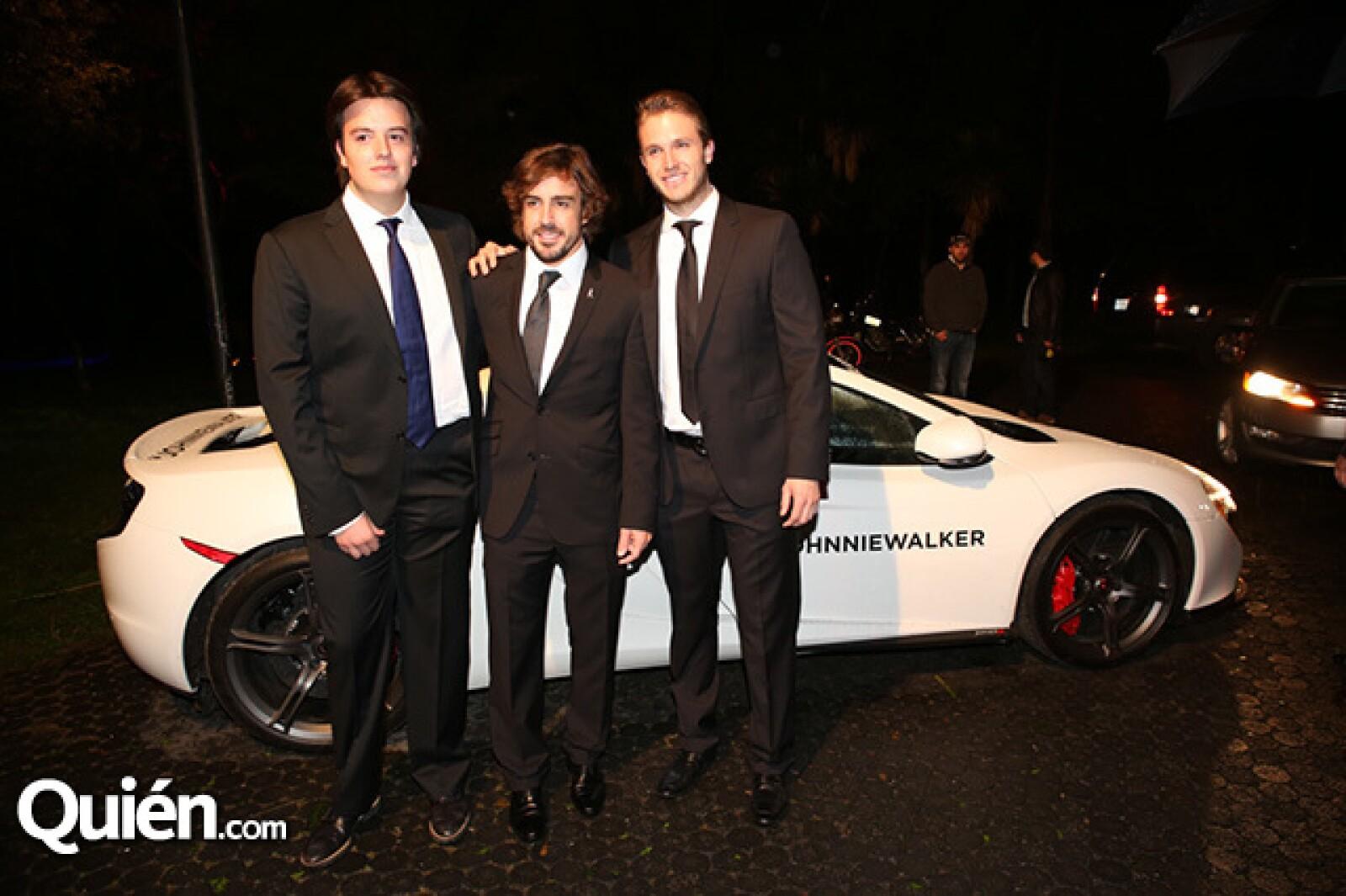 Javier Herrera, Fernando Alonso y José Manuel Herrera