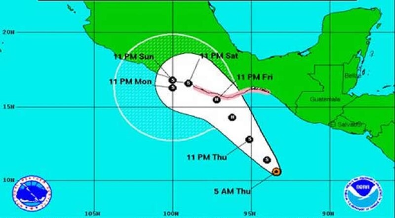 tormenta tropical Carlotta