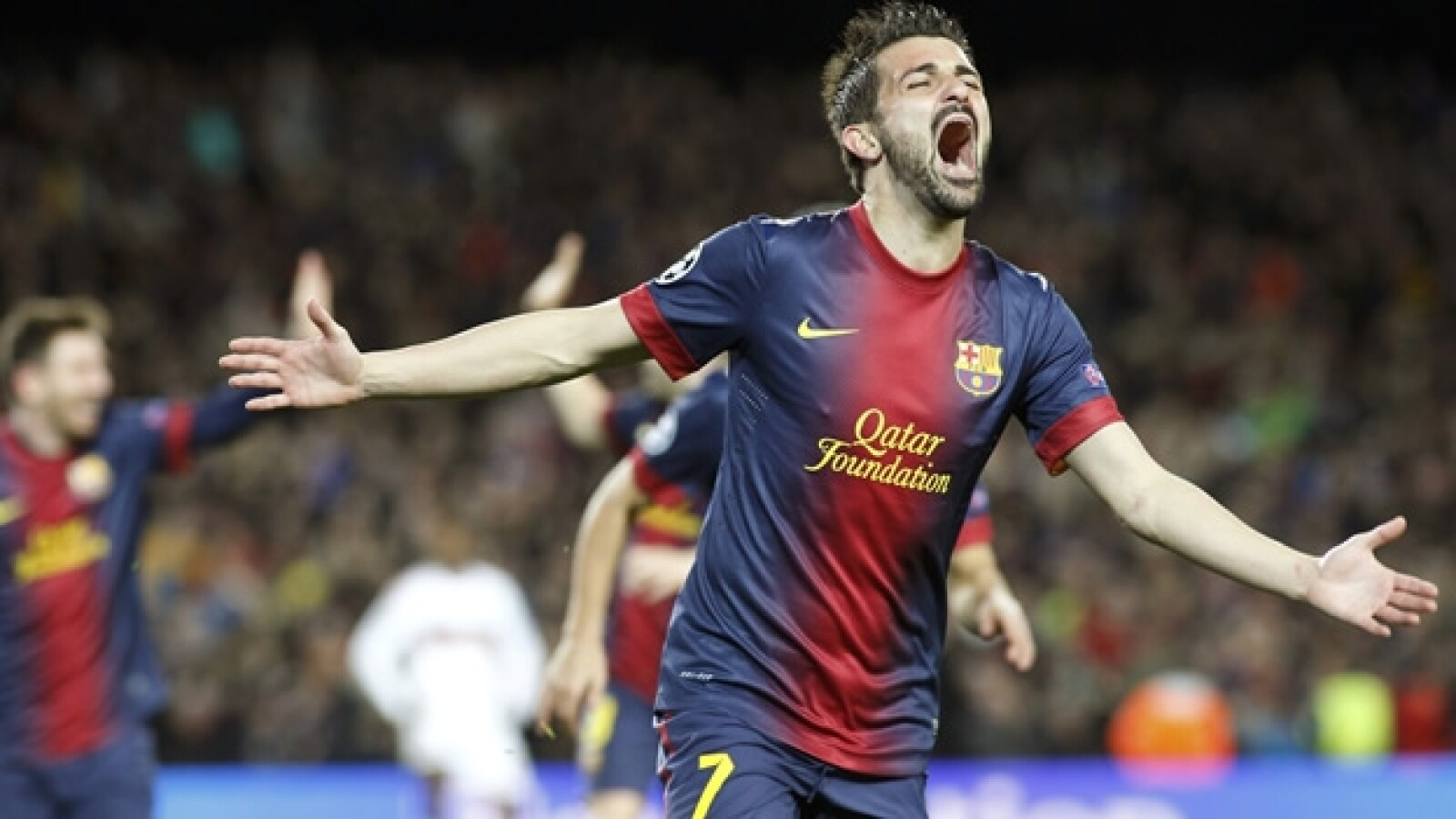 david villa, barcelona gol
