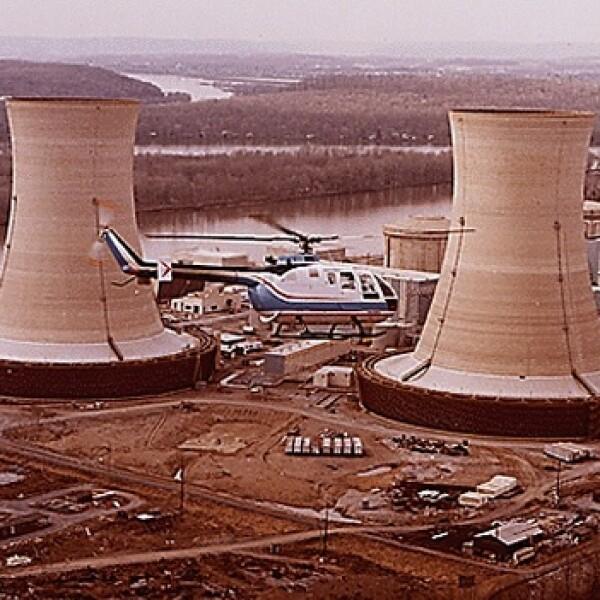 3 Mile Island -Helicóptero - planta nuclear