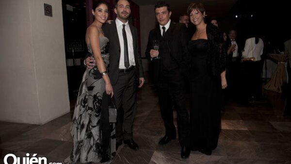 María José Janeiro, Luca Bresciani, Ricardo Lave y Alessia Agirmo