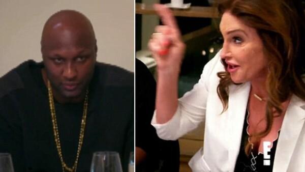 El ex de Khloé Kardashian se muestra nervioso al ver a su ex suegro después de su transición, por primera vez en persona.