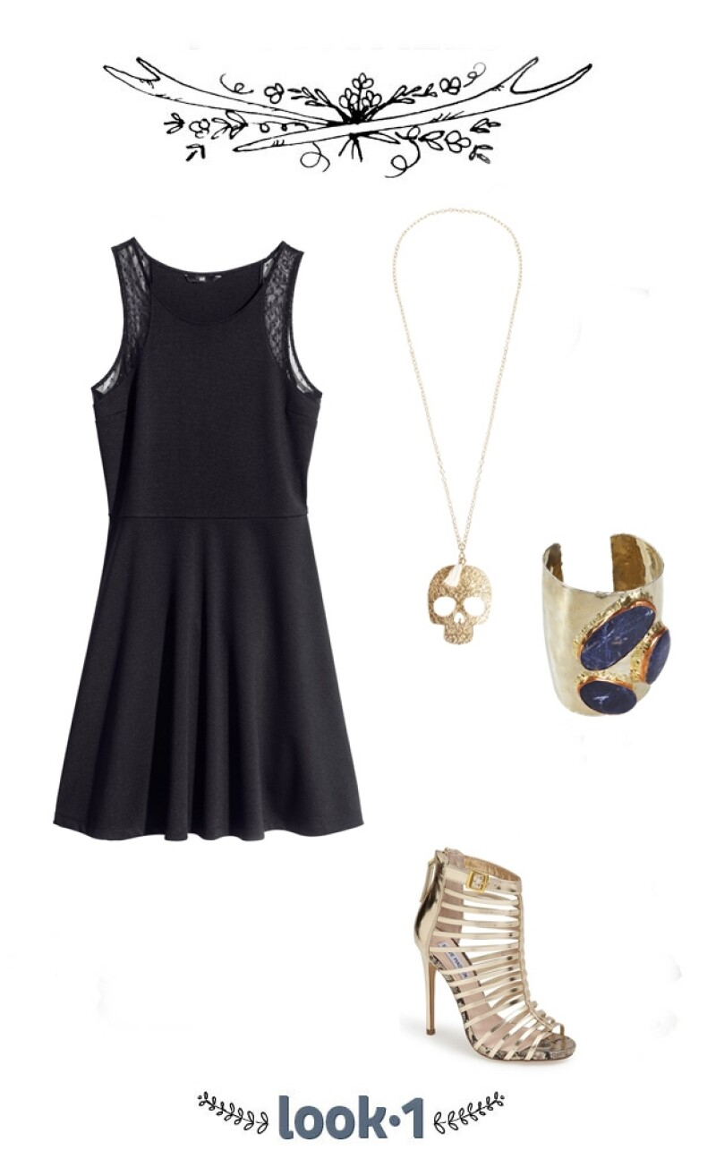 Te damos una sugerencia para vestirte este viernes, no olvides que los peep toe están in, un mini black dress siempre te saca del apuro y la joyería, siempre que sea la adecuada, realza tu look.