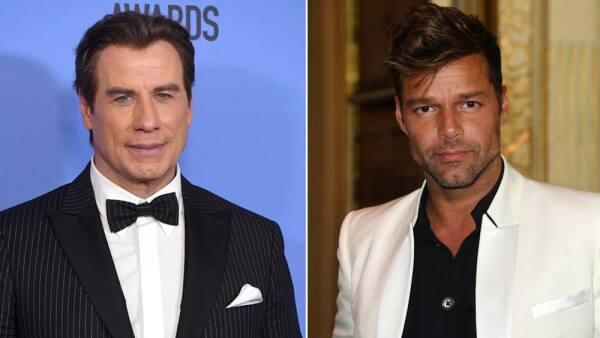 Ricky Martin y John Travolta
