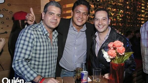 Miguel Horts, Fernando García y Omar Yitani
