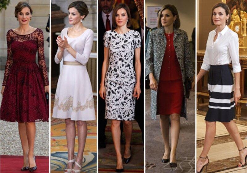 Este 2015 la española gastó aproximadamente 130 mil euros en ropa y joyas que estrenó en apariciones públicas.